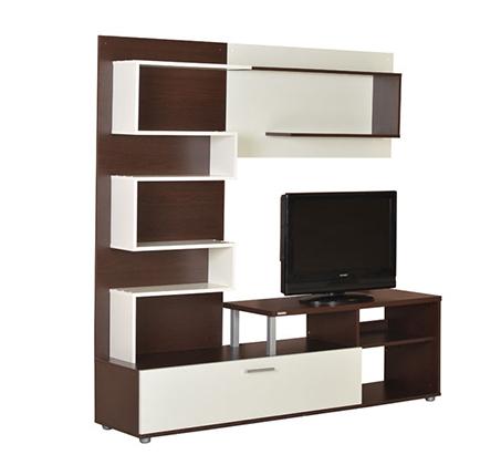 מזנון טלויזיה מיוחד לסלון בעיצוב מודרני בעל שפע מדפי אחסון מבית SIRS  - תמונה 3