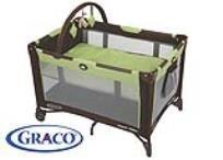 לול משולב עם מיטת תינוק Graco Pack 'N Play On the Go Travel Playard, Go Green