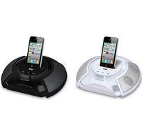 תחנת עגינה ניידת ונטענת מבית PURE ACOUSTICS ל-IPHONE עם חיבורי USB SD AUX - משלוח חינם