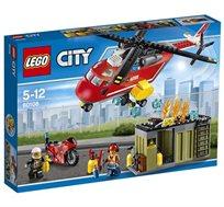 מסוק ואופנוע כיבוי - משחק לילדים LEGO