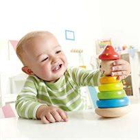 צעצוע השחלת צורות מעץ - ליצן