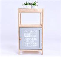 שידת מדפים מעץ בעיצוב כפרי בדגמים לבחירה