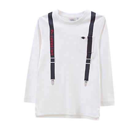 חולצת T-SHIRT OVS עם הדפס שלייקס לילדים - לבן