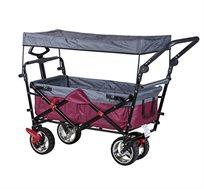עגלה מתקפלת המשלבת גגון, ידית, חגורת בטיחות ומעצורים במגוון צבעים לבחירה דגםFULL T