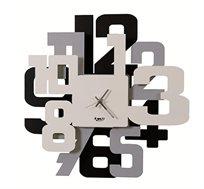 שעון קיר עשוי מתכת בעיצוב תלת מימדי