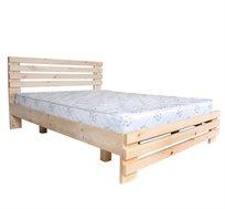מיטה זוגית מעץ אורן מלא דגם 5011 אולימפיה ומזרן מתנה במגוון צבעים לבחירה