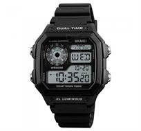 שעון יד דיגיטלי 1299 שחור עמיד למים 50 מ