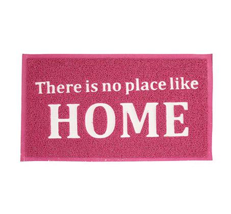 שטיח כניסה לבית דגם HOME בצבע ורוד