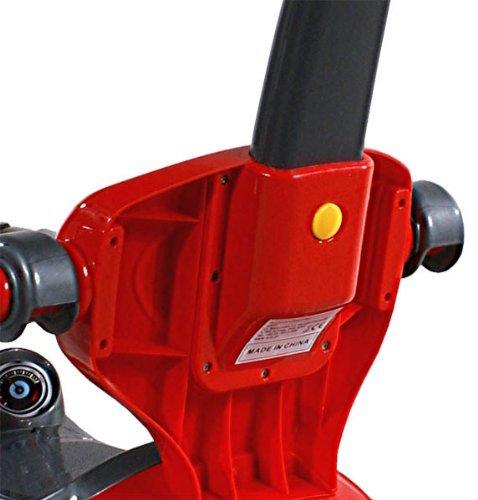 בימבה חיפושית 3 ב 1 עם מעקה בטיחות ומוט דחיפה להורה - אדום או כחול - תמונה 4