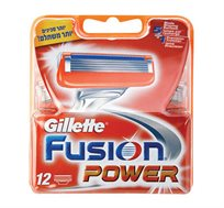מארז 12 סכינים לגבר Gillette Fusion Power