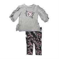 Calvin Klein חליפה שרוול מכווץ (24-12 חודשים) - אפור