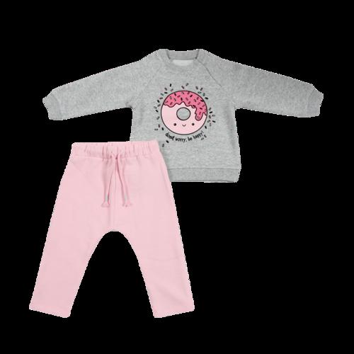 Minene חליפה (6-2 שנים) - אפור דונאטס