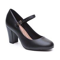 Beira Rio - נעל עקב לנשים עם רצועת אבזם בצבע שחור