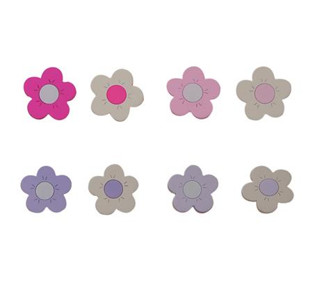 ידית עץ פרחים לעיצוב חדר הילדים
