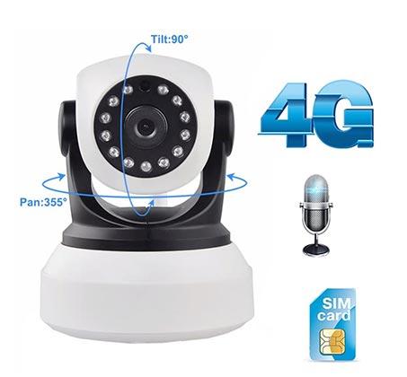 מצלמת אבטחה IP אלחוטית סלולרית 4G 3G ממונעת ראיית לילה  HD - תמונה 2