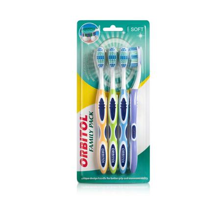 6 מארזי רביעיית מברשות שיניים אורביטול - 24 יחידות Orbitol
