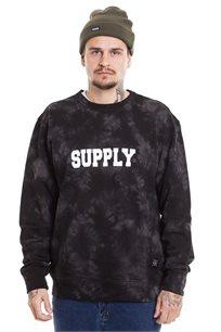 סווצ'אר קרונק SUPPLY בצבע טאי דיי שחור