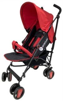 טיולון לתינוק ספיריט עם גגון Xxl פטנט באדום/שחור