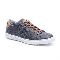 Seventy Nine - נעלי סניקרס בצבע נייבי בדוגמא מנוחשת
