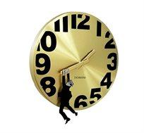 שעון קיר בצבע זהב דגם תלוי בזמן