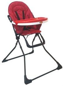 כסא אוכל עם מגש כפול וריפוד ניתן להסרה Enjoy באדום Apple