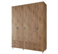 ארון תליה 5 דלתות עם מדפים ומגירות דגם ROY במגוון צבעים לבחירה