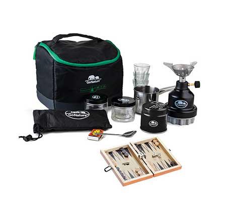 ערכת קפה בתיק צד GoNature כולל ערכת שש בש מתנה