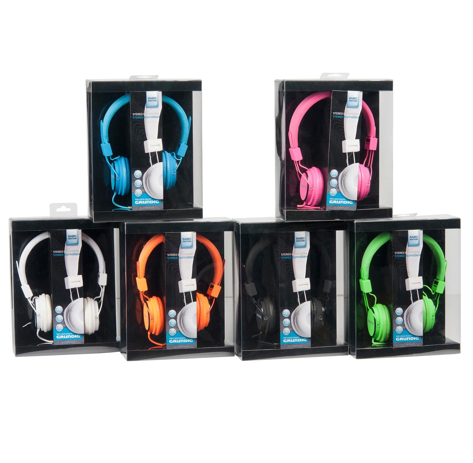 אוזניות קשת בגודל בינוני מסדרת BASIC מבית GRUNDIG במגוון צבעי לבחירה - תמונה 2