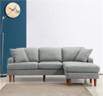 ספה פינתית מבד עשויה שלדת עץ מלא דגם URBAN