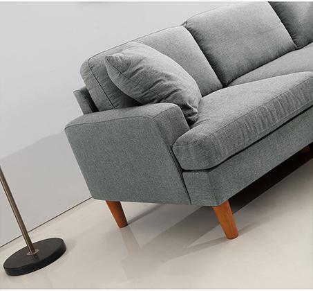 סלון פינתי עשוי שלדת עץ מלא מבד מיקרופייבר דגם URBAN עם מושבים והדום הניתנים להחלפה - תמונה 5
