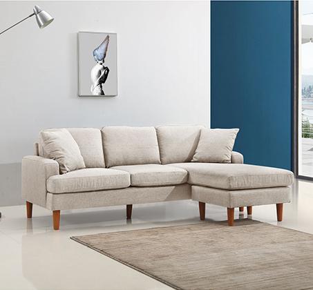 סלון פינתי עשוי שלדת עץ מלא מבד מיקרופייבר דגם URBAN עם מושבים והדום הניתנים להחלפה - תמונה 3