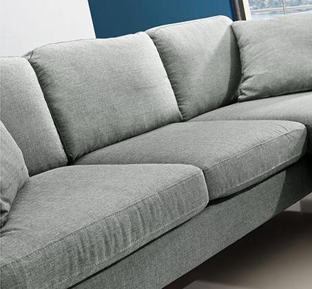 סלון פינתי עשוי שלדת עץ מלא מבד מיקרופייבר דגם URBAN עם מושבים והדום הניתנים להחלפה - תמונה 4