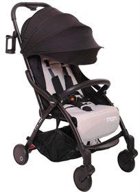 טיולון קומפקטי לתינוק עם קיפול אוטומטי טיק טק פלוס Tik Tak Plus - אפור כהה/שלדה שחורה/פגוש שחור