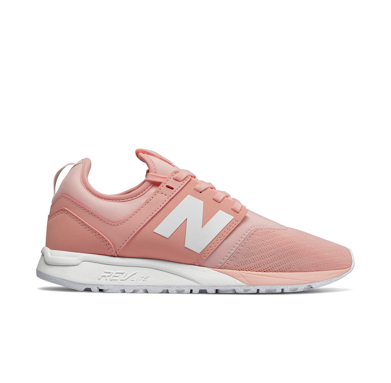 נעלי סניקרס NEW BALANCE WRL247EM לאישה - ורוד/לבן