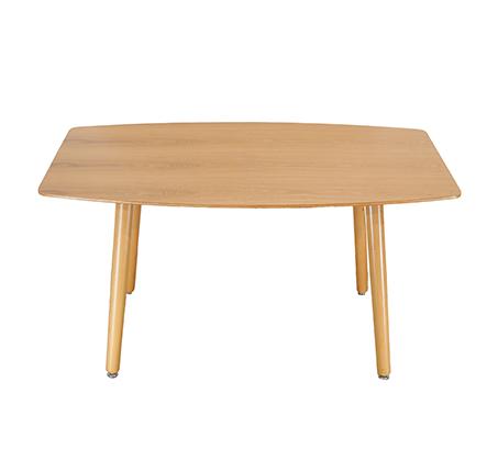שולחן סלוני רגליים עגולות מעץ מלא