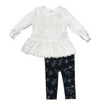 calvin klein חליפת טוניקה  (7-4 שנים) - לבן
