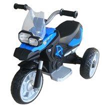 אופנוע ממונע 6V עם גלגלי Eva מונע החלקה, אורות וצלילים - כחול