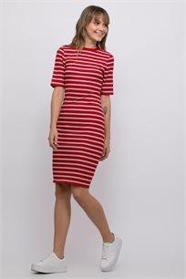 שמלת ריב בשילוב פסים
