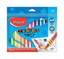 12 צבעי פסטל מתברגים צבעוניים MAPED