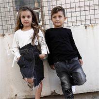ORO חצאית ג'ינס (4-5 שנים) - שחור