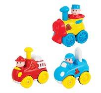 צעצוע כלי רכב לגיל הרך המלווה בצלילים, מנגינות ואורות