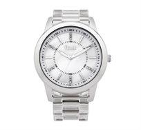 שעון יוקרתי לאישה French Connection עם רצועת פלסטיק - לבן/כסוף