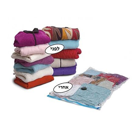 10 שקיות ואקום גדולות  לאחסון שמיכות, בגדים, מגבות, מעילים ועוד - תמונה 2