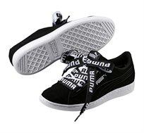 נעלי פומה דגם Vikky Ribbon Bold עם שרוכים מוגדלים לאישה בצבע שחור