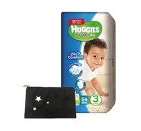 מארז 5 חבילות Huggies Freedom Dry + נרתיק מעוצב של גיטה מתנה