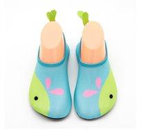נעלי ים/בריכה לילדים דגם Skin Shoes דולפין Premium Baby בצבע ירוק/טורקיז