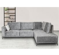 ספה פינתית בריפוד בד או דמוי עור לבחירה דגם נאפולי