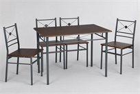 פינת אוכל הכוללת שולחן איכותי ו-4 כיסאות בשילוב מתכת איכותית ועץ טבעי נוח ושימושי!
