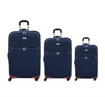 סט מזוודות בד 3 גדלים - צבע לבחירה