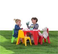 סט ישיבה לילדים הכולל שולחן ו-4 כסאות למרפסת ולחצר Starplast